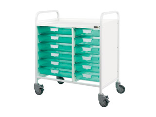 Vista 80 Medical Trolley - 12 Single Green Trays