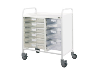 Vista 80 Medical Trolley - 6 Single/3 Double Clear Trays