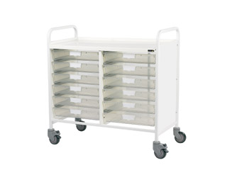 Vista 10 Medical0 Trolley - 12 Single Clear Trays