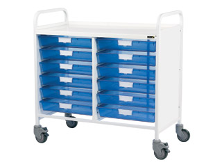 Vista 10 Medical0 Trolley - 12 Single Blue Trays