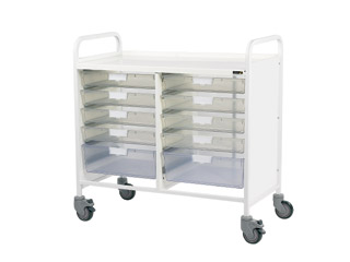 Vista 100 Trolley - 8 Single/2 Double Clear Trays