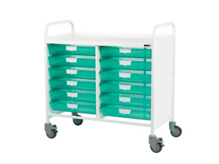 Vista 10 Medical0 Trolley - 12 Single Green Trays