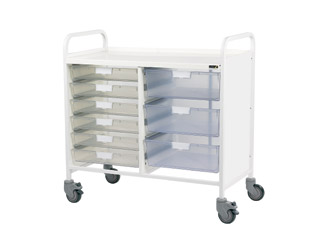 Vista 100 Trolley - 6 Single/3 Double Clear Trays