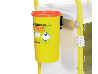 Sharps Box Holder (Daniels type) Includes Medi-Rail