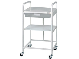 Vista 10 Trolley - 1 Clear Tray & 1 Shelf