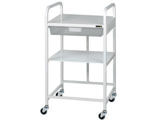 Vista 10 Medical Cart - 1 Clear Tray & 1 Shelf