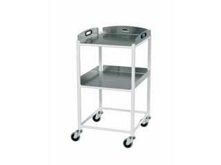 Dressing Trolley - 2 Stainless Steel Trays