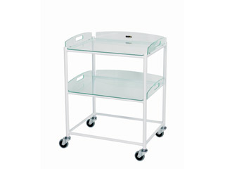 Dressing Trolleys - 2 Glass Effect Safety Trays