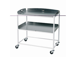 Dressings Trolley - 2 Stainless Steel Trays