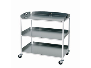 Dressings Trolley - 3 Stainless Steel Trays