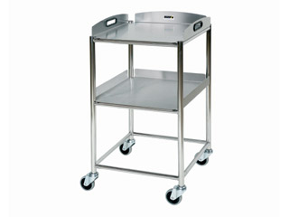 Surgical Trolley - 2 Stainless Steel Trays - Length 460mm