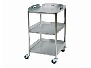 Surgical Trolley - 3 Stainless Steel Trays - Length 460mm