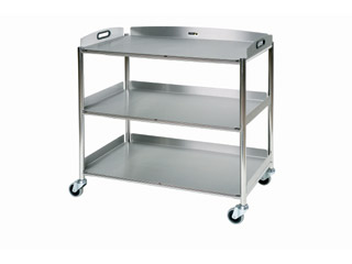 Surgical Trolley - 3 Stainless Steel Trays - Length 860mm