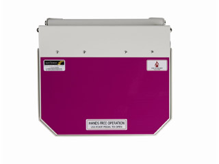 20 Litre Clinical Bin with Purple Lid - Cytotoxic & Cytostatic waste