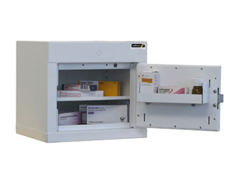 Controlled Drug Cabinet 27 Litre with 1 shelf/1 tray, one door