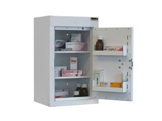Controlled Drug Cabinet 50 Litre with 2 shelves/2 trays, one door