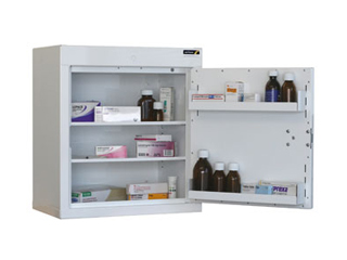 Controlled Drug Cabinet 82 Litre with 2 shelves/2 trays, one door