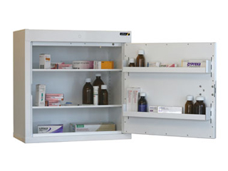 Controlled Drug Cabinet 108 Litre with 2 shelves/2 trays, one door