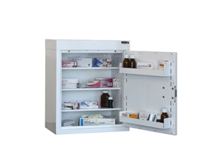 Medicine Cabinet 90 Litre with 3 shelves & 3 door trays, one door
