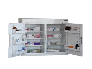Medicine Cabinet 144 Litre with 6 shelves & 6 door trays, two doors