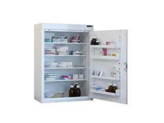 Medicine Cabinet 153 Litre with 4 shelves & 4 door trays, one door