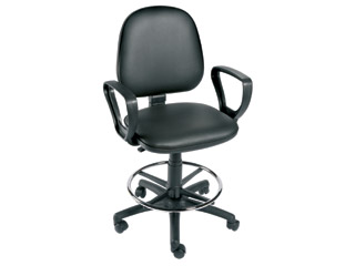 Gas-lift Chair with foot ring and arms
