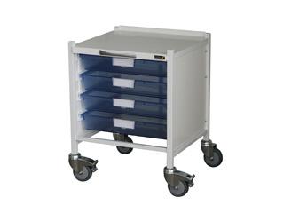 Vista 15 Trolley - Four Single Blue Trays
