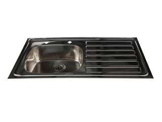 HTM64 Inset Stainless Steel Sink - Right Hand Drainer