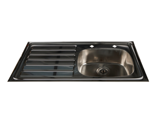 HTM64 Inset Stainless Steel Sink - Left Hand Drainer