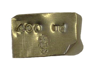 Flat Aluminium Weight  400mg