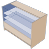 3/4 Glass Counter 1200mm