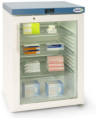 Shoreline SM161G - 141 Litres Pharmacy Fridge with Glass Door