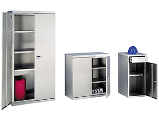 Stainless Steel Cabinet 332 Litre Double Door 900 x 880 x 450mm (HxWxD)