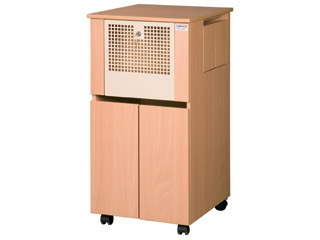 Bedside Locker Cabinet with Integral Drug Cabinet & Pod-Standard Locking Metal Perforated Door