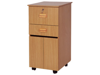 Bedside Locker Cabinet with Lockable Medicine Drawer - Green Alder Finish