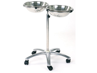 High Level Double Bowl & Stand - Adjustable Height
