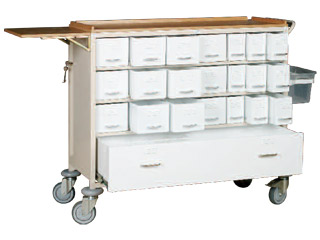 21 Drawer Drugs Storage Trolley