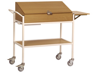 Traditional Style Drug Trolley - Beech Finish