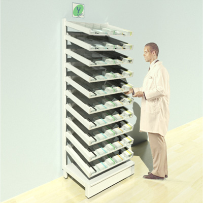 FY-001T Full Height Pharmacy Shelving