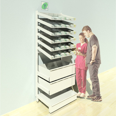 FY-002T Full Height Pharmacy Shelving