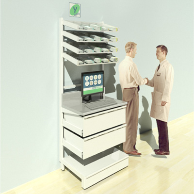 FY-003T Full Height Pharmacy Shelving