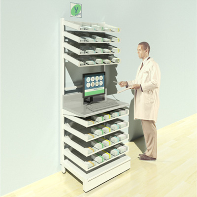 FY-004T Full Height Pharmacy Shelving