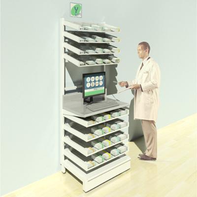 FY-004T Full Height Pharmacy Shelving