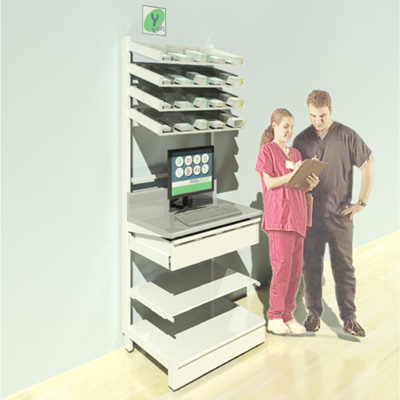 FY-006T Full Height Pharmacy Shelving