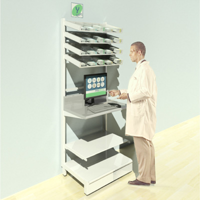 FY-007T Full Height Pharmacy Shelving