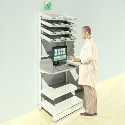 FY-007T Full Height Pharmacy Shelving