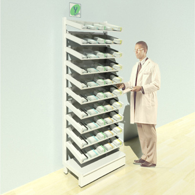 FY-010T Full Height Pharmacy Shelving