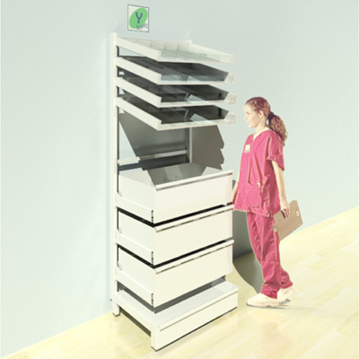 FY-012T Full Height Pharmacy Shelving