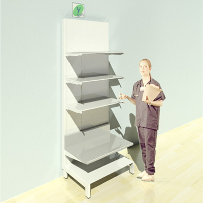 FY-013T Full Height Pharmacy Shelving