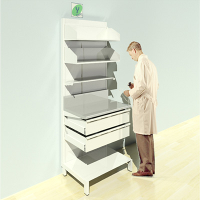 FY-015T Full Height Pharmacy Shelving